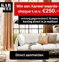 Gratis Karwei waardecheque t.w.v. € 250.- winnen?