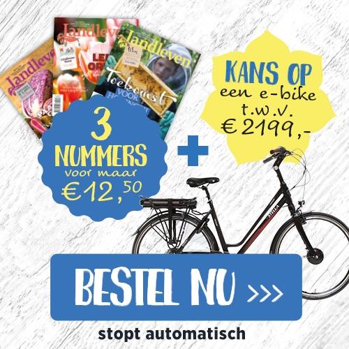 Landleven tijdschrift met kans op elektrische fiets