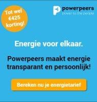 Powerpeers energie met € 425.- korting! Stap gratis over