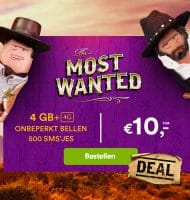 Simpel Sim only met The Most Wanted sim-only actie