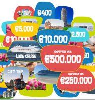 Doneer aan een goed doel en maak kans op € 1.000.000,-.