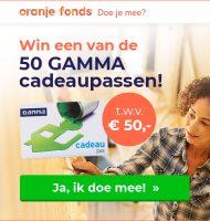 Kans op een GAMMA cadeaupas t.w.v. 50 euro