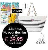 Margriet magazine met Gratis All-Time Favourites tas