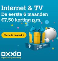 Oxxio Internet Tv en Bellen met € 7.50 korting