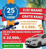 RITEL actie met kans op Droomreis t.w.v. € 1500.-
