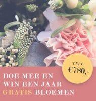 Win een jaar lang Gratis bloemen t.w.v. € 780.-