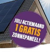 Gratis zonnepanelen in de maand juli 2021