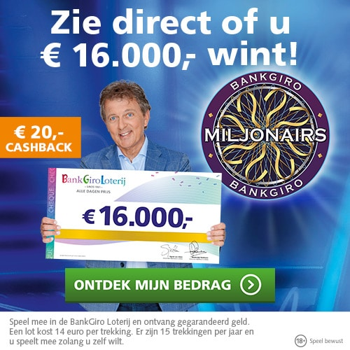 Pak met Bankgiro loterij actie direct € 20.-