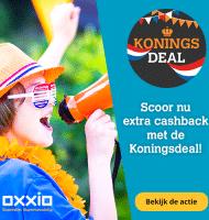 Extra cashback € 215.- met Koningsdeal van Oxxio