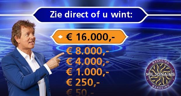 Pak in de Bankgiro loterij actie direct € 50.-