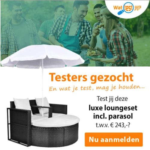 Luxe Loungeset testen met passende parasol?
