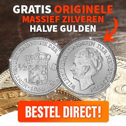 Voor de verzamelaars is er de Gratis Zilveren Halve Gulden.