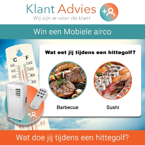 Maak kans op een Mobiele airco van € 549.-
