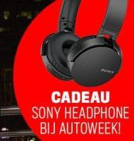 Autoweek met gratis Sony-koptelefoon t.w.v. € 120,-
