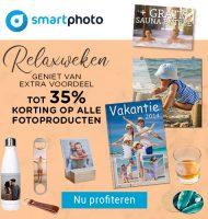 Bij Smartphoto tot 35% korting + Gratis sauna entree