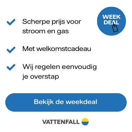 Nuon Vattenfall weekdeal met Gratis Bosch Accu Schroefmachine