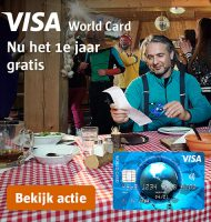 Visa World Card 1 heel jaar gratis