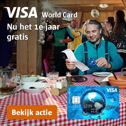 Visa World Card 1 heel jaar gratis