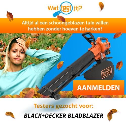 Ben jij tester van deze Black Decker bladblazer