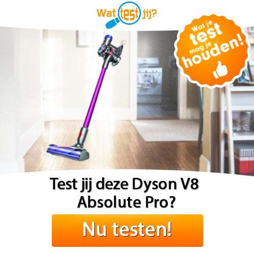 Test Gratis een Dyson V8 stofzuiger