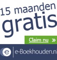 e-Boekhouden nu 15 maanden Gratis