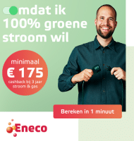 Eneco energie stort € 200.- retour op je rekening