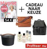 Margriet magazine met gratis cadeau naar keuze