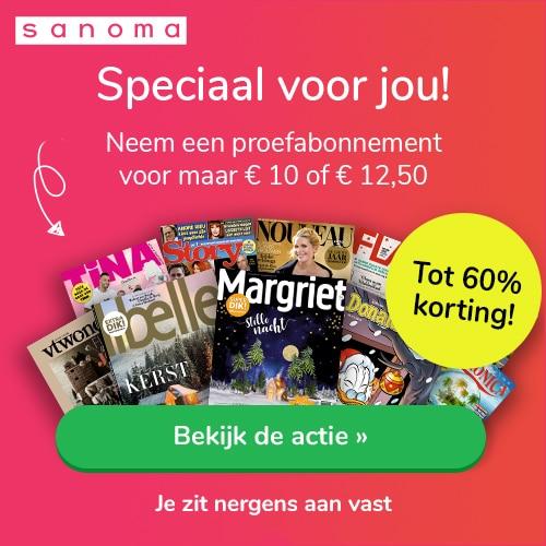 Magazine maand voor maar € 10.- per abonnement