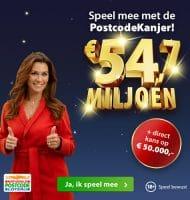 Postcode loterij Postcodekanjer van 54.7 miljoen