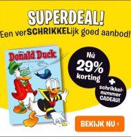 Donald Duck met gratis Schrikkelnummer en 29% korting