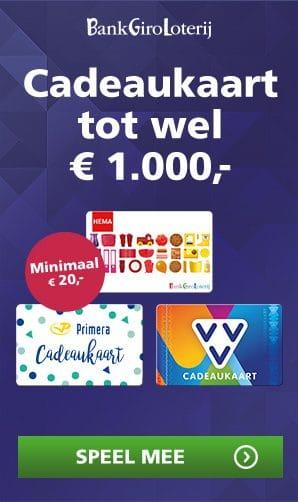 BankGiro Loterij voordeel met Gratis cadeaukaart