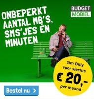 Onbeperkt internet bij Robin Mobile (Budget Mobiel)