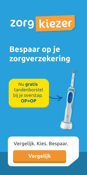 Gratis elektrische tandenborstel bij Zorgkiezer | Bespaar veel geld