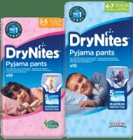 Gratis DryNites pyjamabroekjes