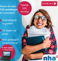 "NHA studie met Gratis 9"" tablet of activity tracker"