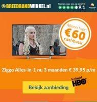 Ziggo Alles in 1 nu met € 60.- cashback