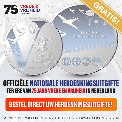 Gratis de Nationale Herdenkingsuitgifte munt