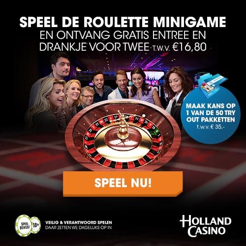 Gratis entree en drankje bij Holland Casino