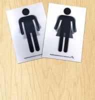 Genderneutraal toiletstickers Gratis bestellen