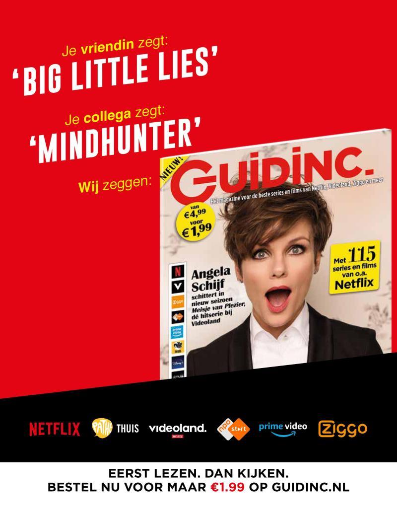 Gratis tijdschrift Guidinc voor beste films en series