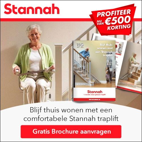 Gratis Brochure Stannah Trapliften en € 500.- korting