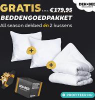 Gratis beddengoedpakket t.w.v. € 179,- bij Dekbed discounter