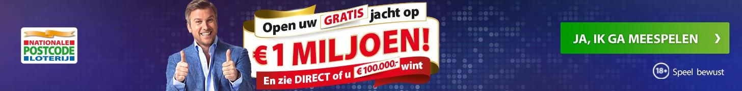 Postcode loterij actie Miljoenenjacht