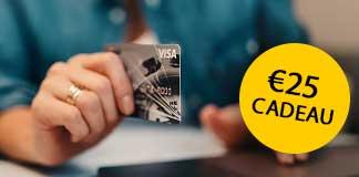 Bij een ANWB creditcard ontvang je nu Gratis € 25.- shoptegoed en met het voordeel dat je inkopen minimaal 270 dagen verzekerd zijn tegen verlies, diefstal en schade.