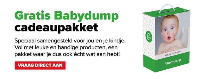 Gratis cadeaupakket in de Baby-Dump winkel