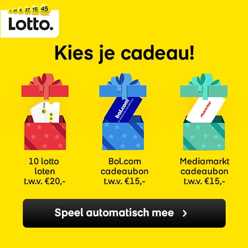 ontvang met de Lotto trekking direct een cadeau