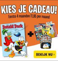 Donald Duck met Gratis cadeau en hoge korting