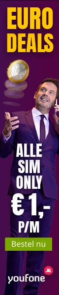 Sim Only nu 1 euro per maand bij Youfone