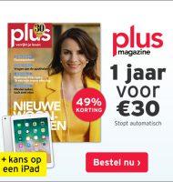 Win iPad bij inschrijving nieuwsbrief Plus Magazine