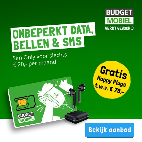 Robin Mobile (Budget Mobiel) met gratis Happy Plugs t.w.v. € 79,-